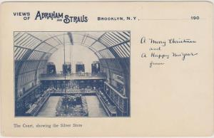 UNUSUAL ABRAHAM & STRAUS RETAIL SILVER STORE 1905 ADVERTISING, BROOKLYN NYC