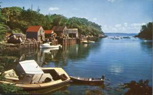 Picturesque Fishing Village along Coast of Maine