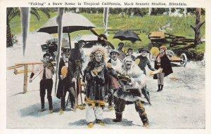 Snow Scene, Mack Sennett Studios, Edendale, California, early postcard, unused