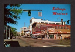 MT Broadway St Crystal Lounge Bank Hotel BILLINGS MONTANA Postcard Carte Postale