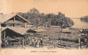 Gabon La Scierie de Ngomo, lumber, sawmill 1923