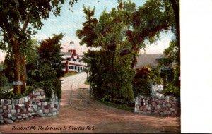 Maine Portland Entrance To Riverton Park