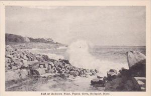 Massachusetts Rockport Surf At Andrews Point Pigeon Cove Albertype
