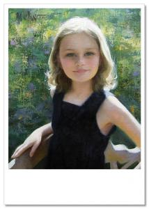 Pretty Little Girl Portrait ~ New Russian Modern Postcard