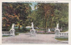 Indiana Indianapolis Entrance To Middle Drive Woodruff Place