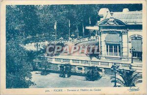 Postcard Old Vichy Terrace Theater and the Casino
