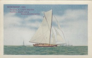 America's Cup Racing Boat MISCHIEF, 1881 , 00-10s ; Varnish Co Ad