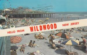 On the Beach at WILDWOOD BY-THE-SEA, New Jersey; PU-1965