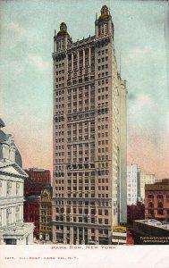 Park Row, New York City, N.Y., Early Postcard, Undivided Back, Unused