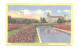 Municipal Rose Garden, Harrisburg, Pennsylvania, Used 1954