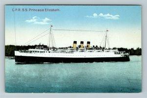 C P R Steamship Princess Elizabeth Vintage Postcard