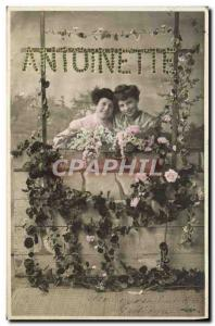 Old Postcard Fancy Antoinette Surname