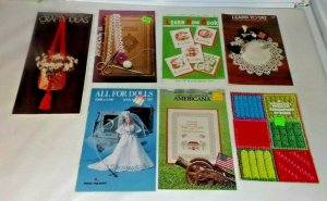 Vtg 1970's Coats & Clark's Craft Book Lot Learn How To Tat Crochet Needlepoint D