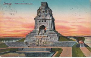 LEIPZIG GERMANY - VOLKERSCHTDENKMAL MONUMENT 1911