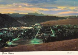 Wyoming Jackson Panoramic View At Night