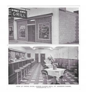 Charleston SC St Andrews Parish Byrnes Downs Grill Interior Exterior 2 Postcards