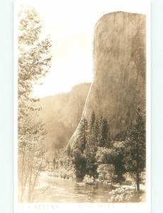 Pre-1950 rppc NICE VIEW Yosemite Valley In Park - By Stockton & Modesto CA W0605