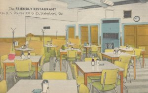STATESBORO , Georgia, 30-40s , Friendly Restaurant , RT 301 , Interior