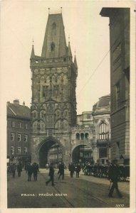 Postcard Czech Republic Prague Prasna Brana