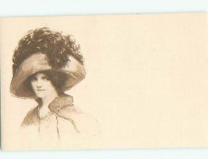 Divided-Back PRETTY WOMAN Risque Interest Postcard AA7964