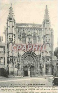 Postcard Old Avignon the holy stone church