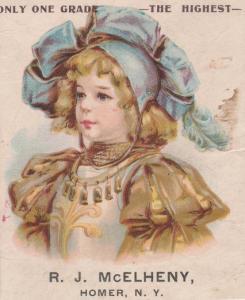 McElheny Pianos - Victorian Trade Card - Homer NY, New York