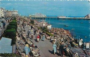 Postcard England Eastbourne seaside aspect the Parades