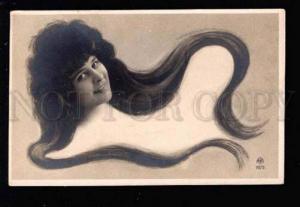 029929 Elise de VERE French Opera LONG HAIR Art Nouveau PHOTO