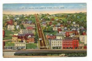 Up The Incline From Superior Street,Duluth,MN,PU-1937