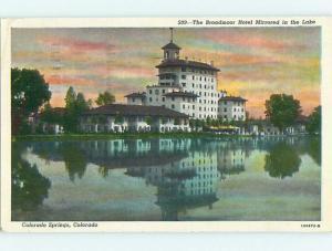 Linen BROADMOOR HOTEL Colorado Springs Colorado CO t0436