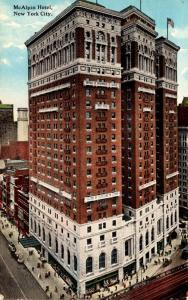 New York City The McAlpin Hotel 1913