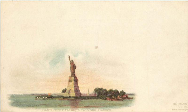 Private Mailing Card; Bartholdi Statue of Liberty, New York Harbor NY unposted