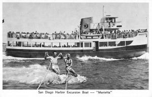 San Diego California Harbor Excursion Boat Marietta Vintage Postcard K98376