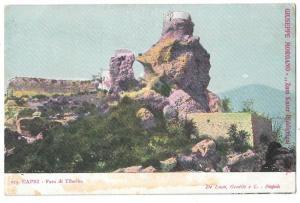 Italy Capri Faro di Tiberio Lighthouse of Tiberius Postcard