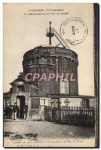Old Postcard Telegraphie the Auvergne & # 39observatoire the Puy de Dome