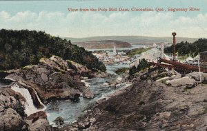 CHICOUTIMI, Quebec, Canada; 00-10s; Saguenay River from the Pulp Mill Dam