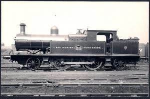 LANCASHIRE & YORKSHIRE Railroad Locomotive #1533 RPPC unused