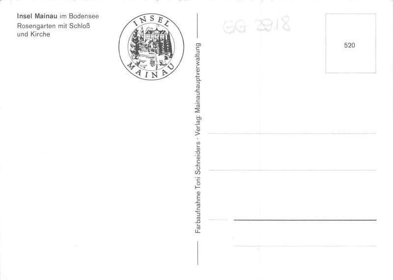 GG2918 insel mainau im bodensee rosengarten mit schloss und kirche    germany