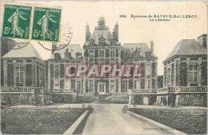 Old Postcard Surroundings Bayeux Balleroy Le Chateau