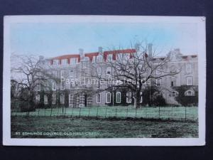 Hertfordshire WARE St Edmunds College Old Hall Green Old Postcard by A.E. Crowe