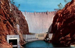 Nevada-Arizona Boundary Hoover Dam Downstream Face