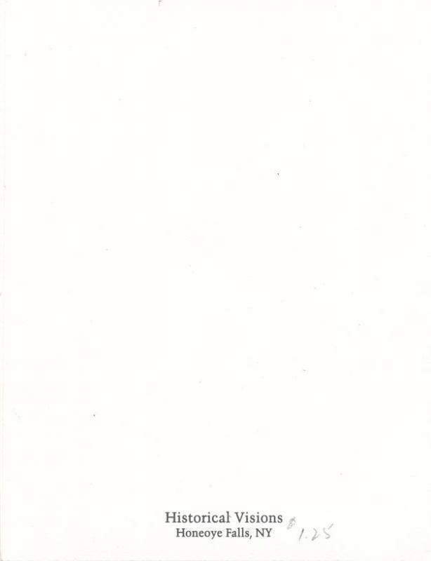 Honeoye Falls NY, New York - Famous Iron Fireman - Note Card- Ephemera