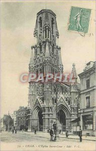 Postcard Old Lille Sacre Coeur Church