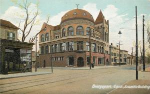 Bridgeport CT~Bicycle @ W A Willey's~Scientific Building~ c1906 Nice Texture