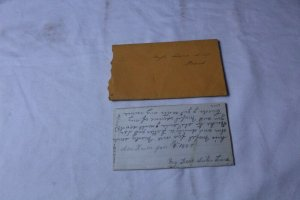 Vintage Hand Written Letter Dated Jan. 9, 1887 on Note Paper