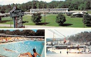 Holiday Mountain Motor Lodge Rock Hill, New York Postcard