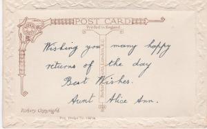 Post Card Greetings – Birthday A Happy Birthday