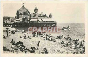 Old Postcard Nice the pier and the beach