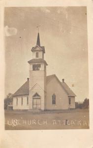 Attica Kansas~United Brethren UB Church~New Minister Preached 1st Time~1909 RPPC