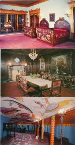 (3 cards) Sarasota FL Florida Ringling Residence - Bedroom Dining Room Game Room